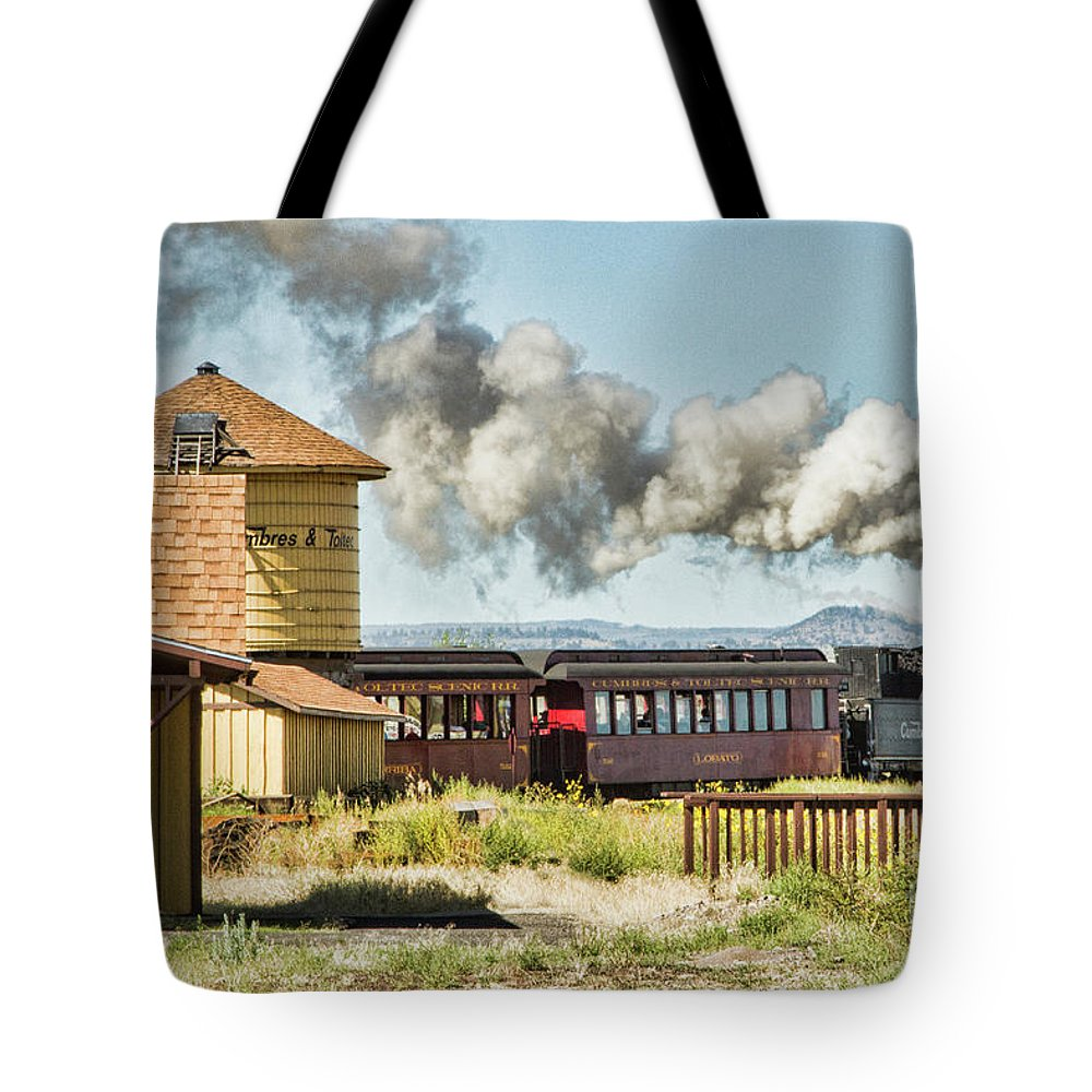 Train Tote Bag featuring the photograph Steaming Past by Marilyn Cornwell