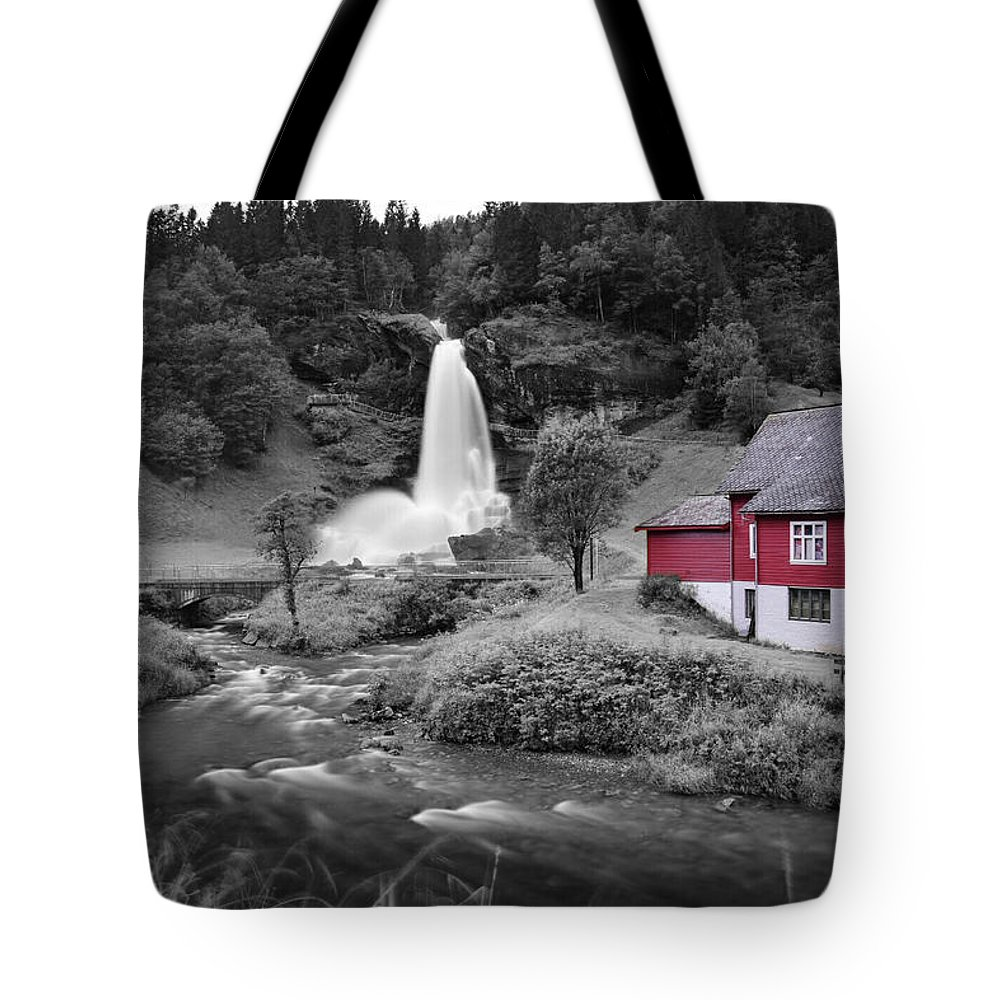 Tote Bag featuring the photograph Steinsdalsfossen by Pop