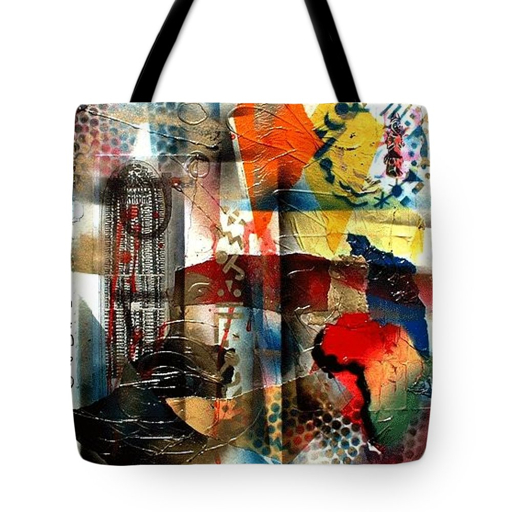 Everett Spruill Tote Bag featuring the painting Stolen into Slavrey by Everett Spruill