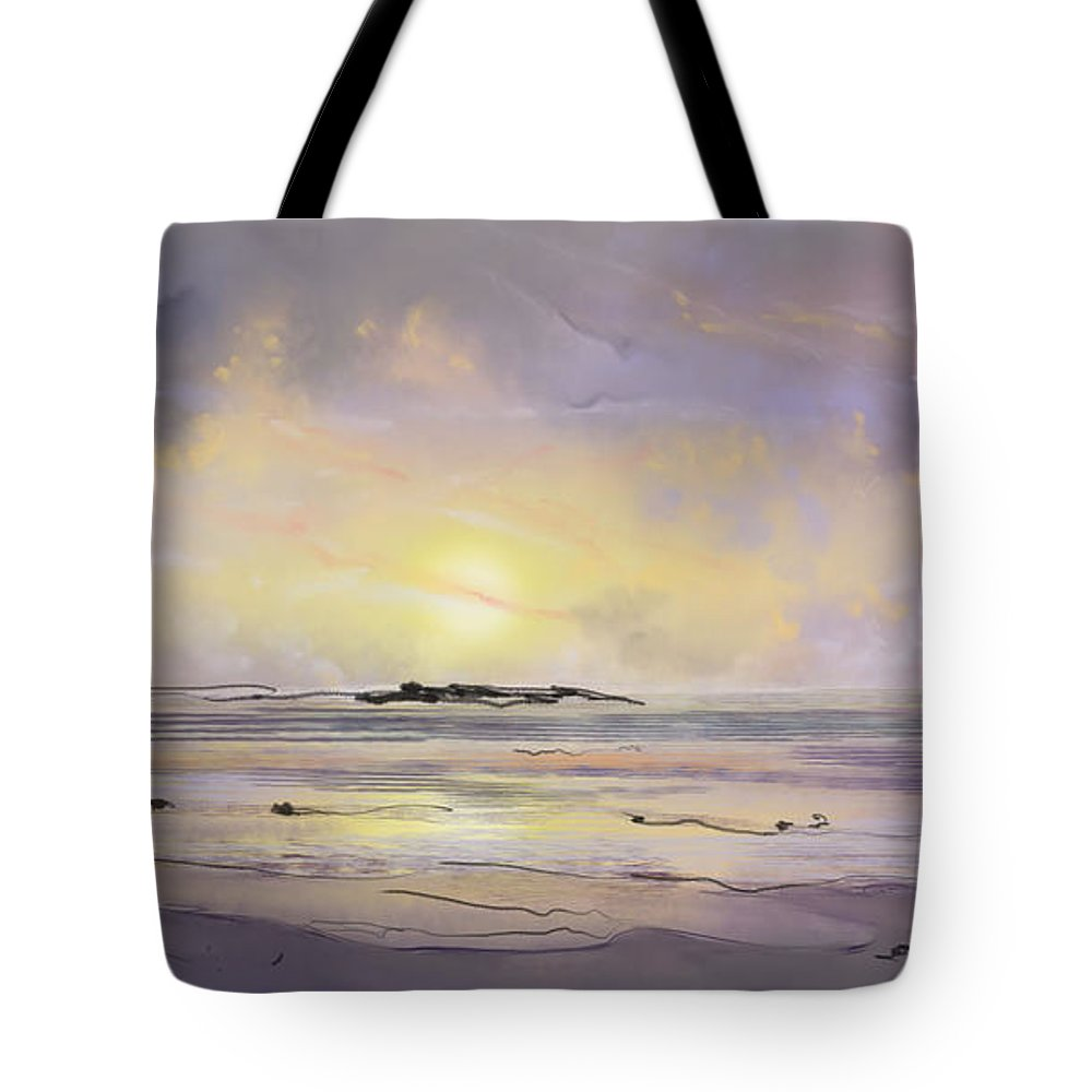 Tote Bag featuring the painting Storm Warning - Pixel/Digital Art by Doug Jerving