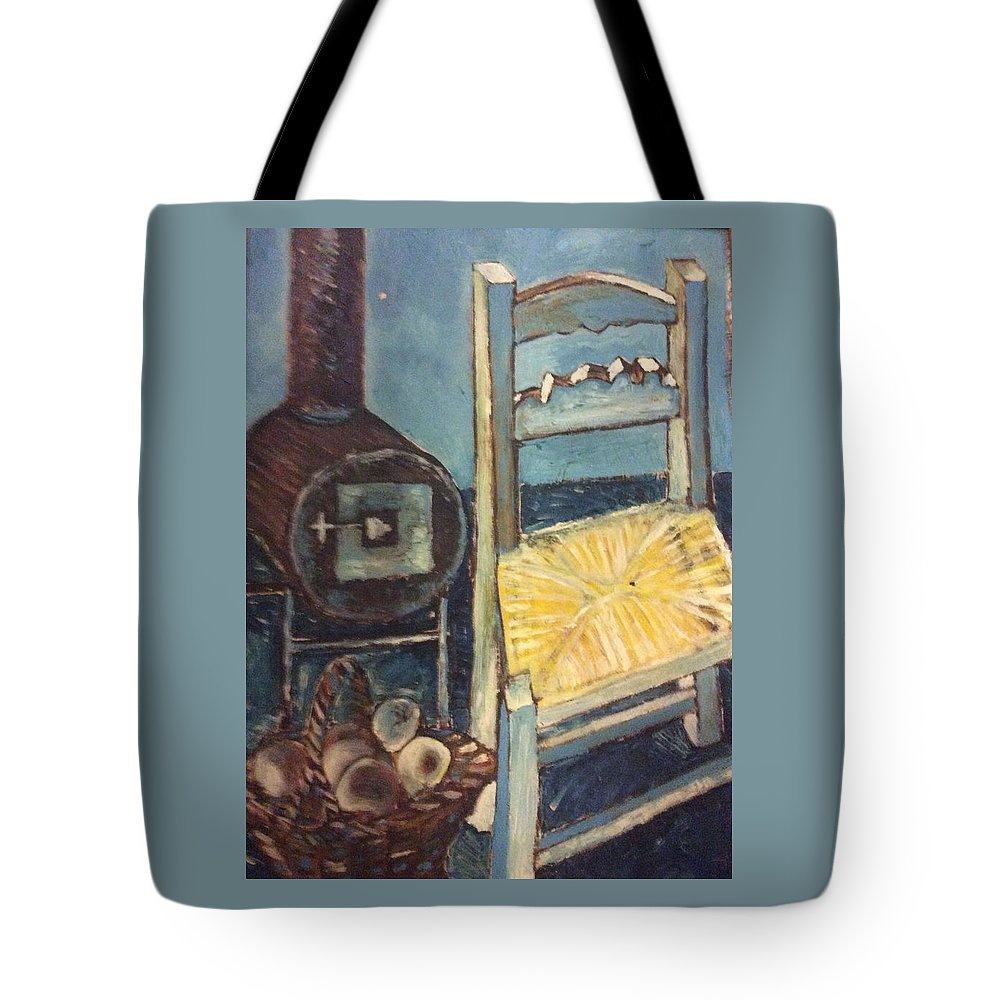 Interior Tote Bag featuring the painting Stove and chair by Biagio Civale