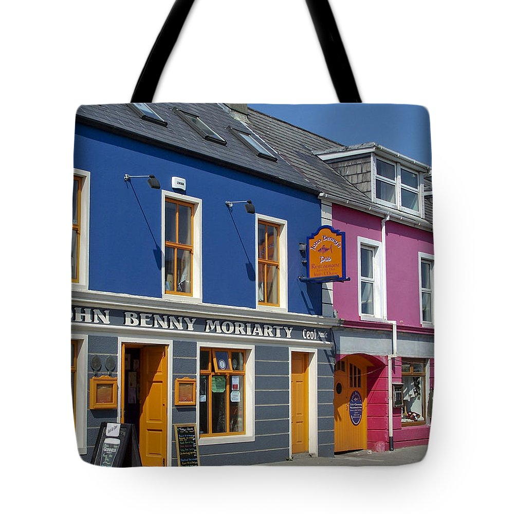 Irish Tote Bag featuring the photograph Strand Street in Dingle Ireland by Teresa Mucha