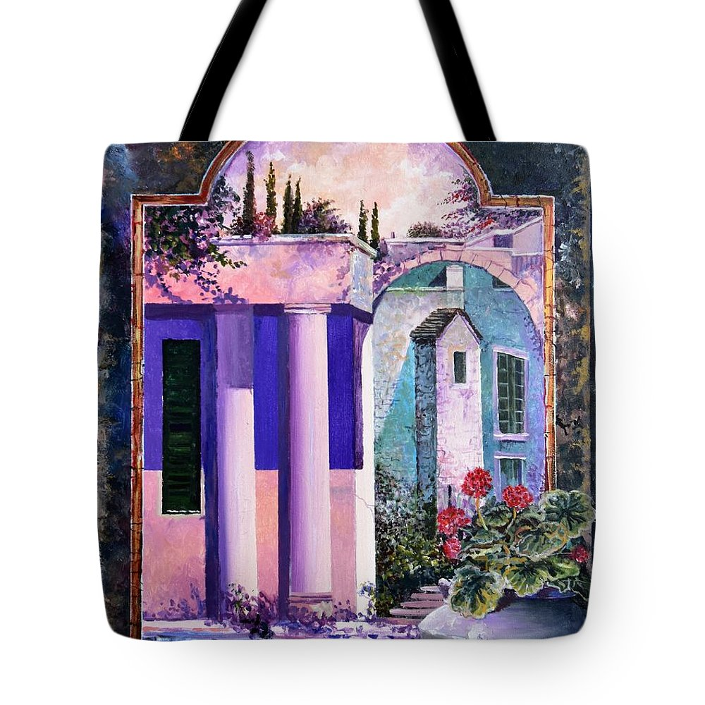 Still Life Tote Bag featuring the painting Structures With Emotional Dimensions by Sinisa Saratlic
