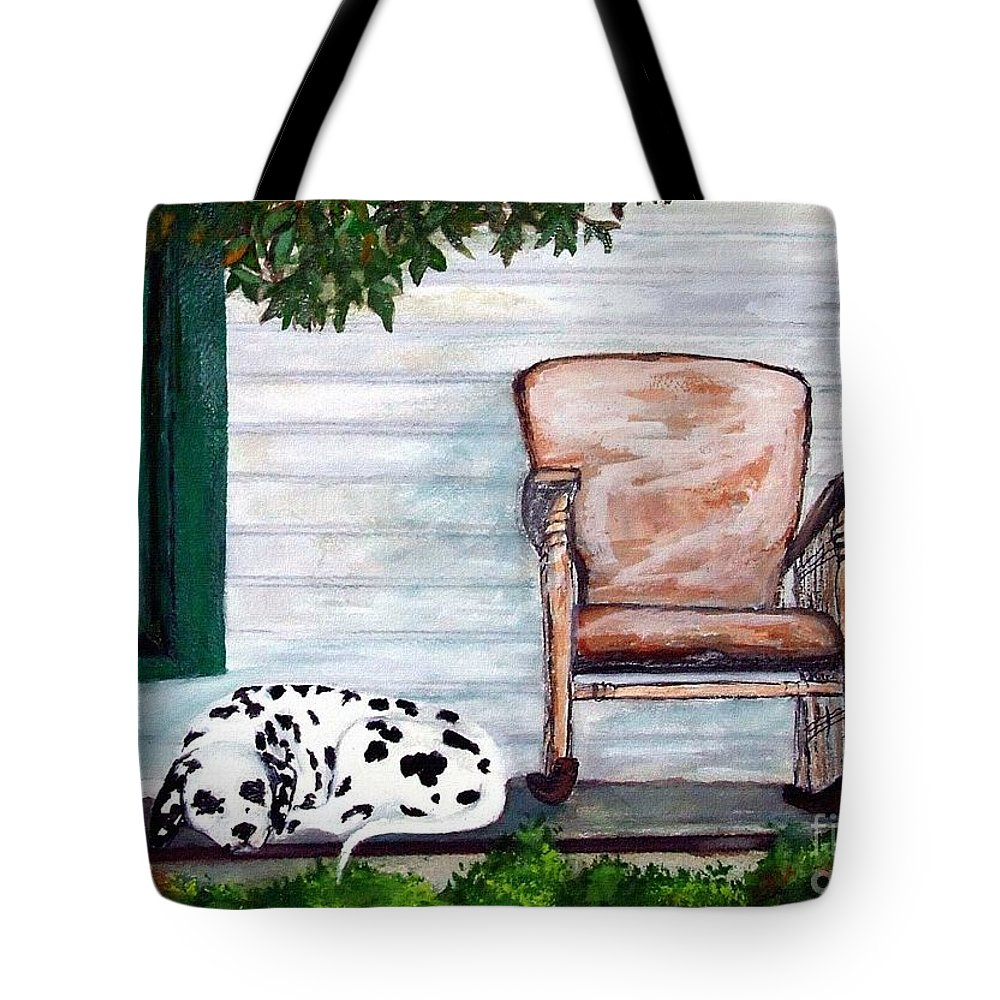 Dog Tote Bag featuring the painting Summer Evening by Jacki McGovern