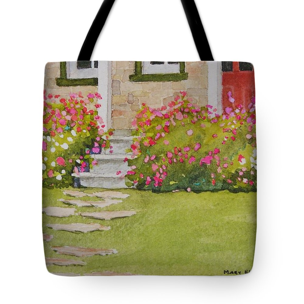 Garden Tote Bag featuring the painting Summer Glory by Mary Ellen Mueller Legault