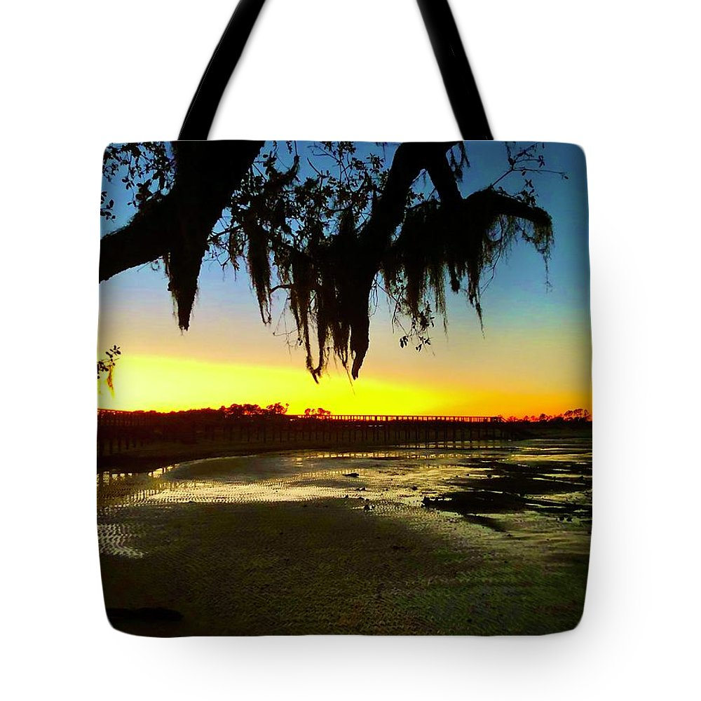Landscape Tote Bag featuring the photograph Sunset 1 by Michael Stothard