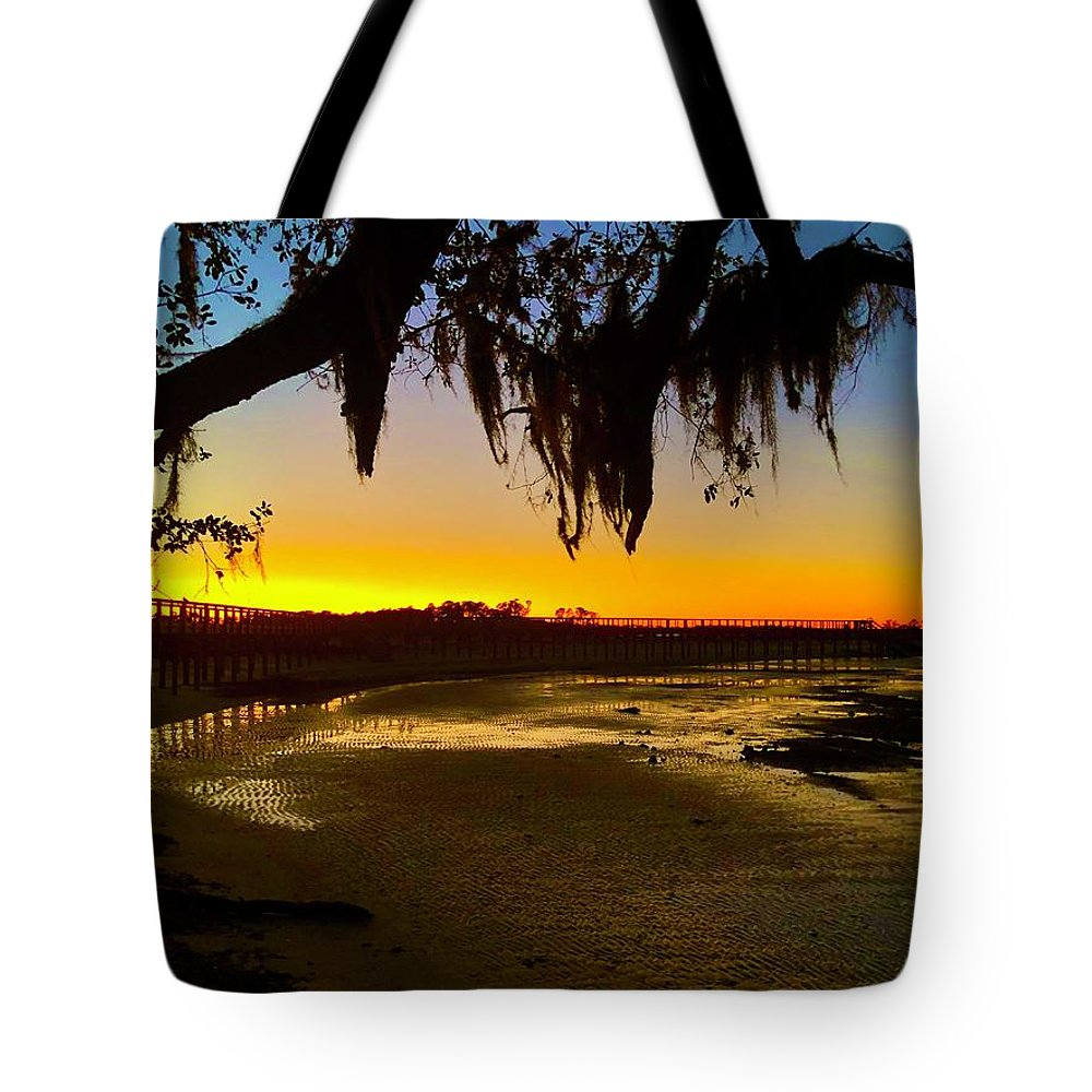 Landscape Tote Bag featuring the photograph Sunset 2 by Michael Stothard