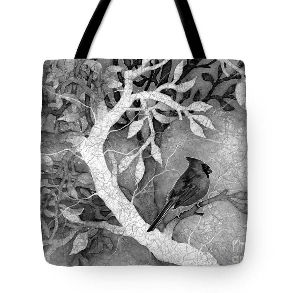 Ardianl Tote Bag featuring the painting Sweet Memories I in Black and White by Hailey E Herrera