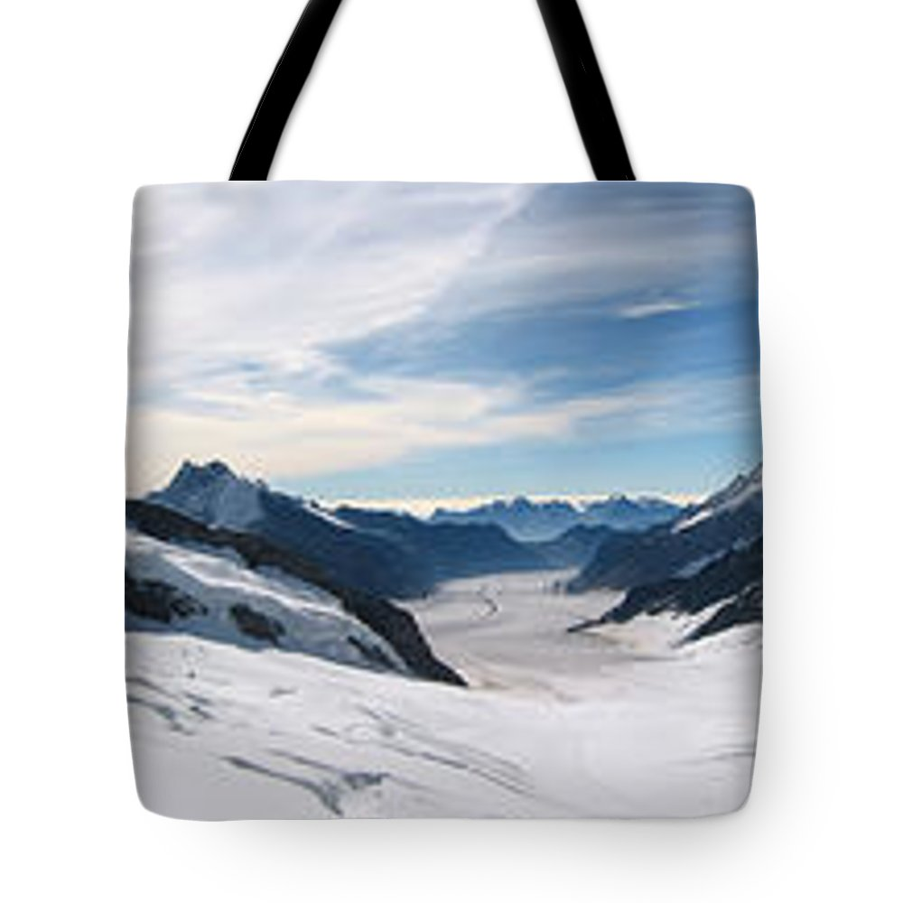 3scape Tote Bag featuring the photograph Swiss Alps by Adam Romanowicz