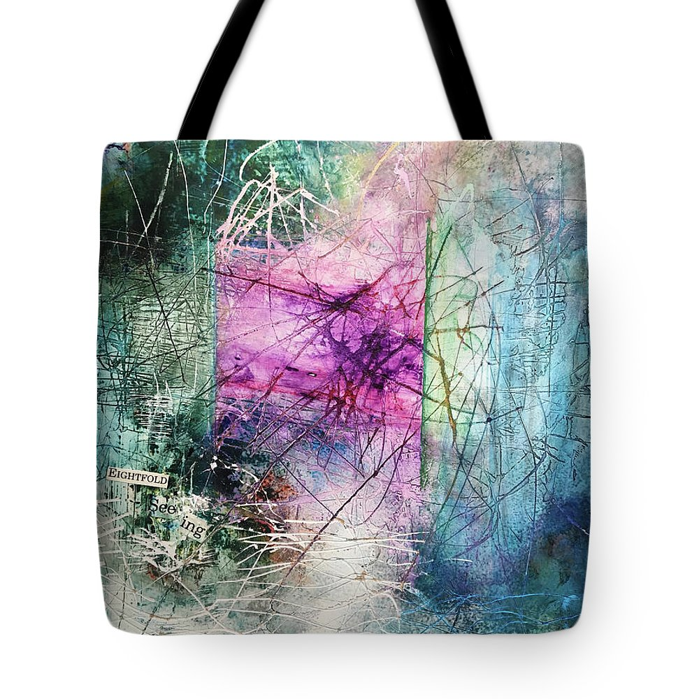 Abstract Art Tote Bag featuring the painting Symbolic Resonance by Rodney Frederickson