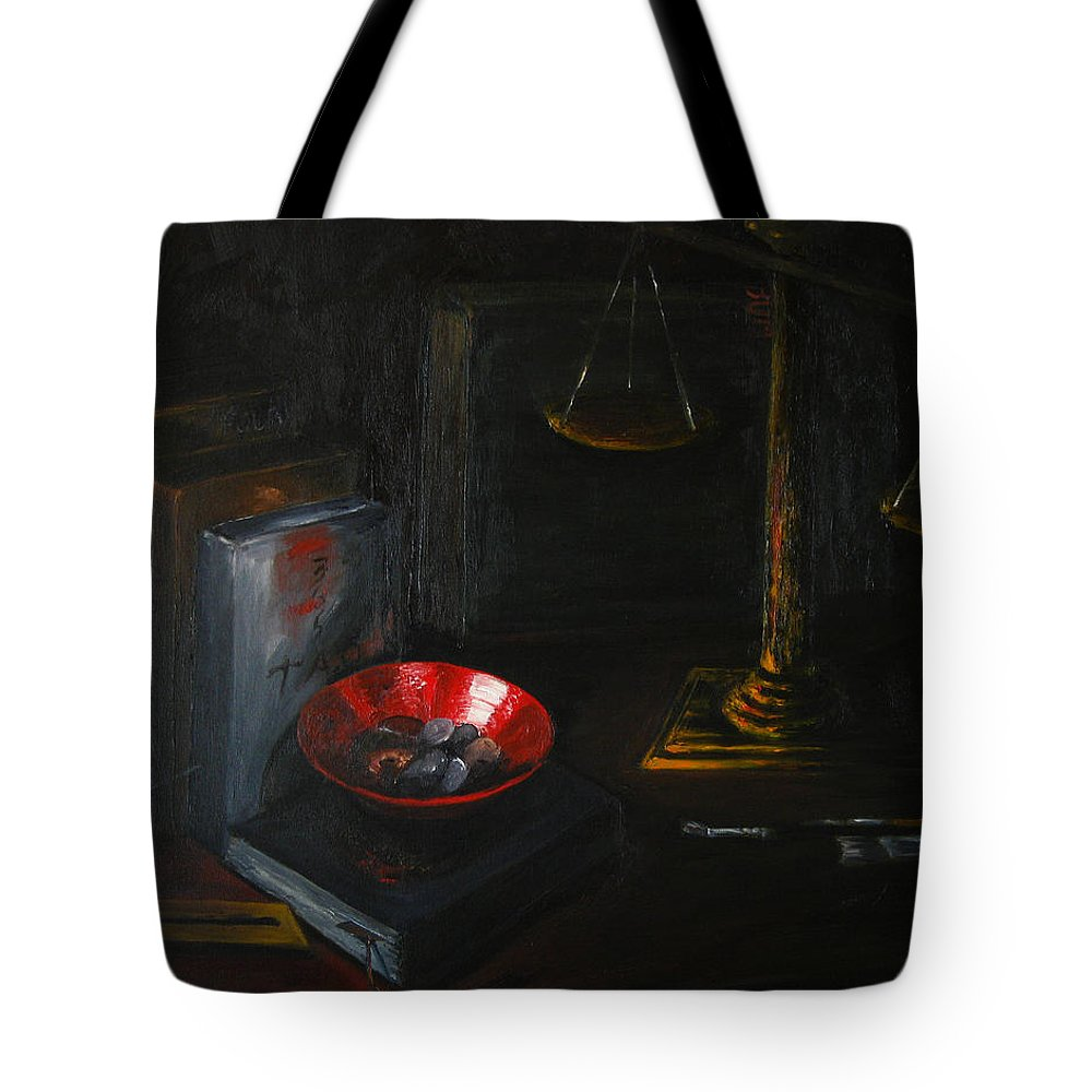 Art Tote Bag featuring the painting Symbols Of Life by Patricia Awapara