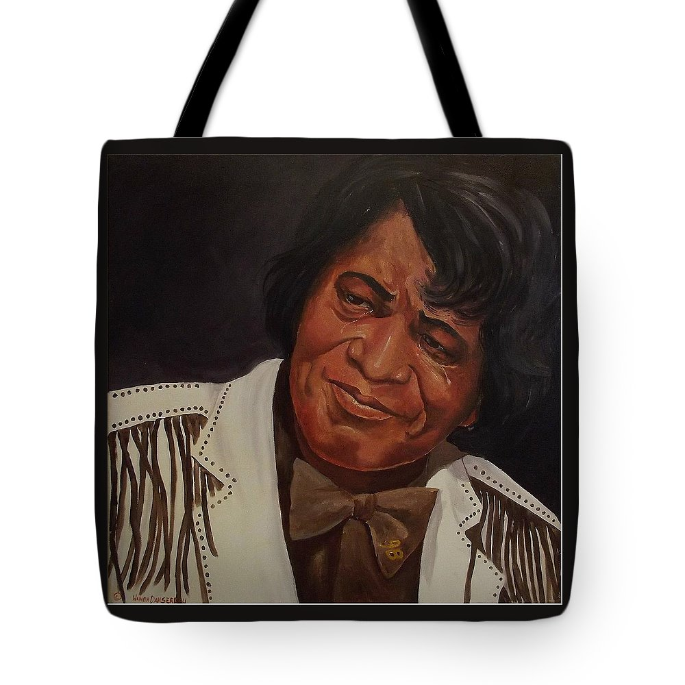 James Brown Tote Bag featuring the painting Tears Of Joy by Wanda Dansereau