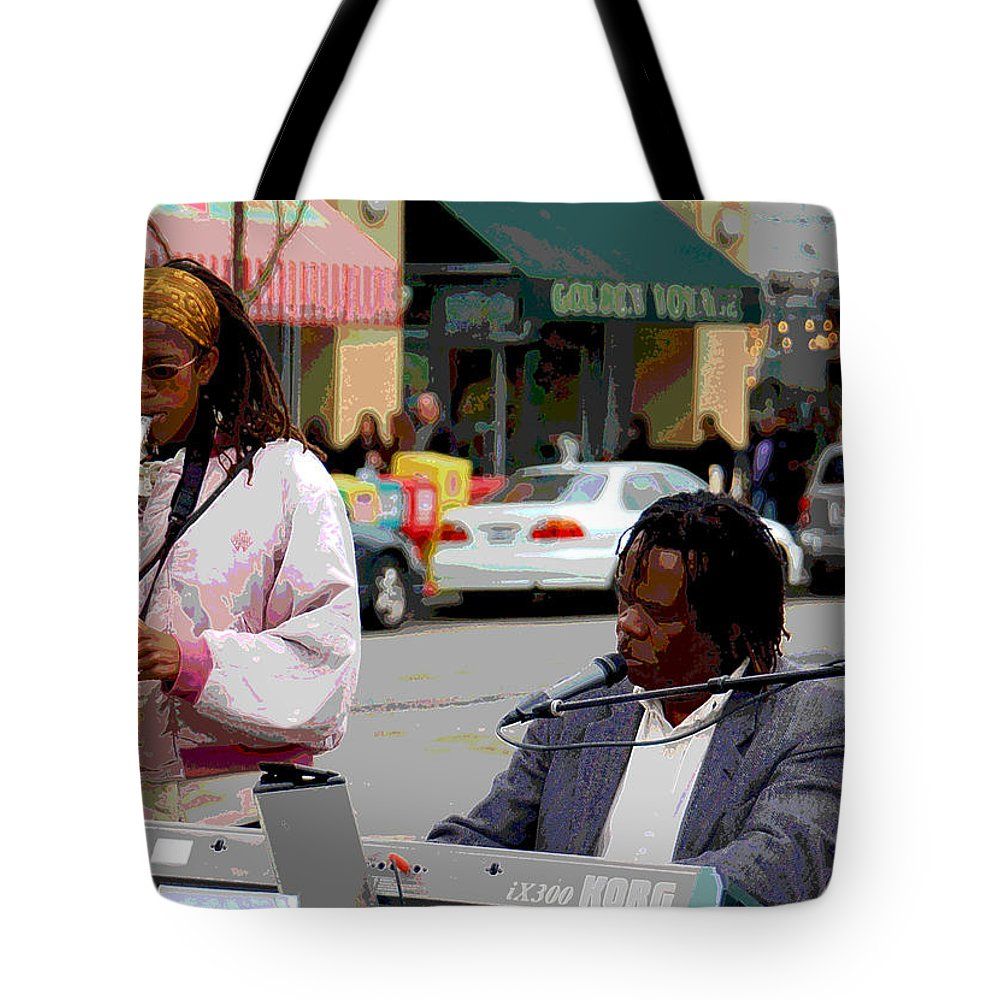 Jazz Tote Bag featuring the photograph The Color of Music by Suzanne Gaff