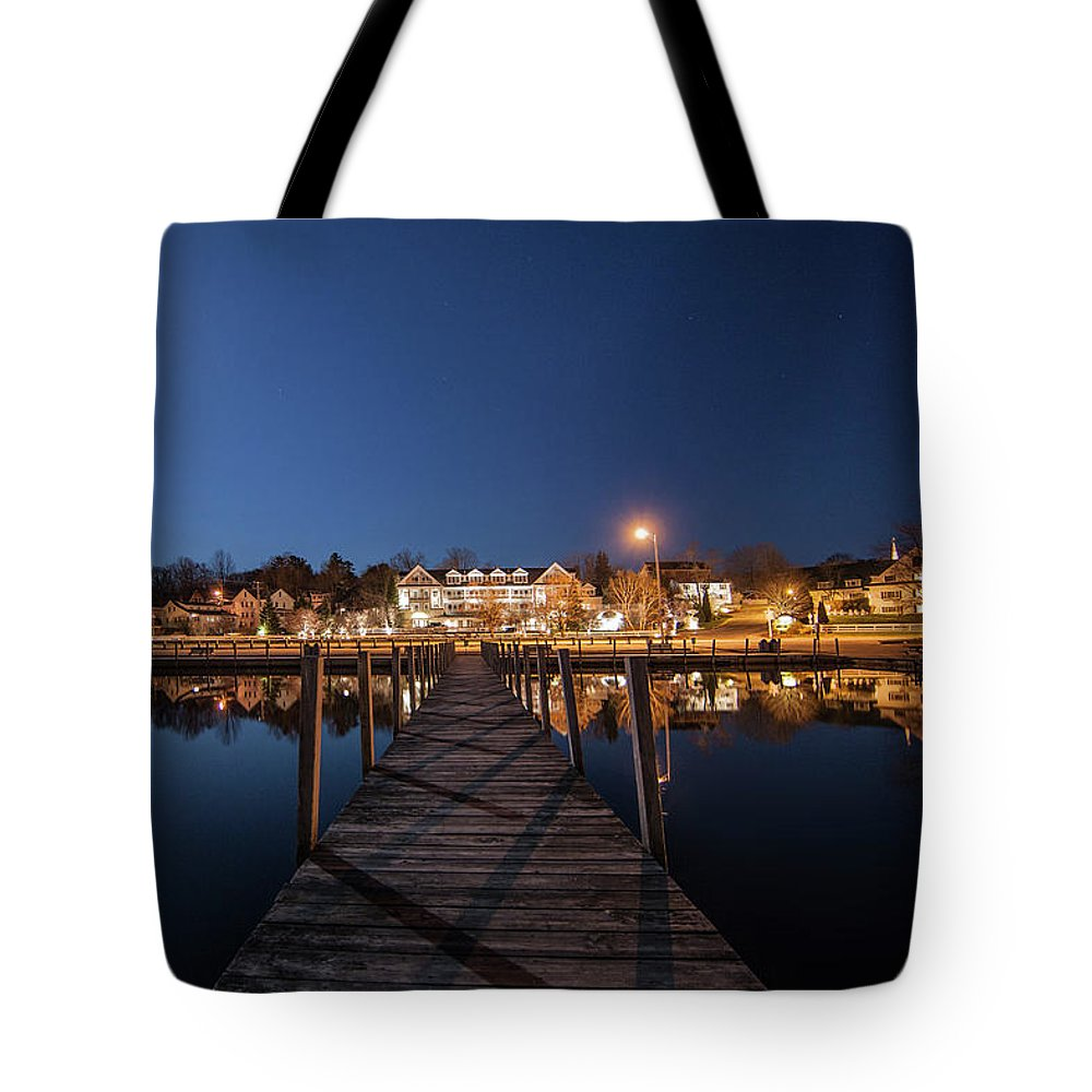 Docks Tote Bag featuring the photograph The Docks - Meredith, NH by Trevor Slauenwhite