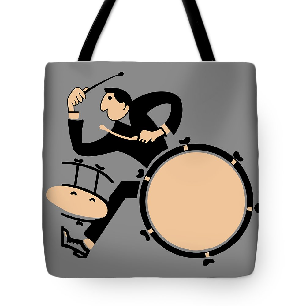Drum Tote Bag featuring the photograph The Drummer by Mark Rogan