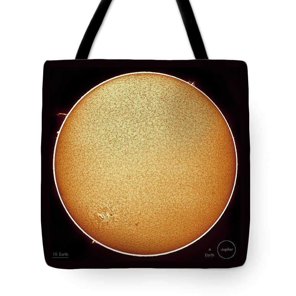 Sun Tote Bag featuring the photograph The Fiery Sun by Prabhu Astrophotography