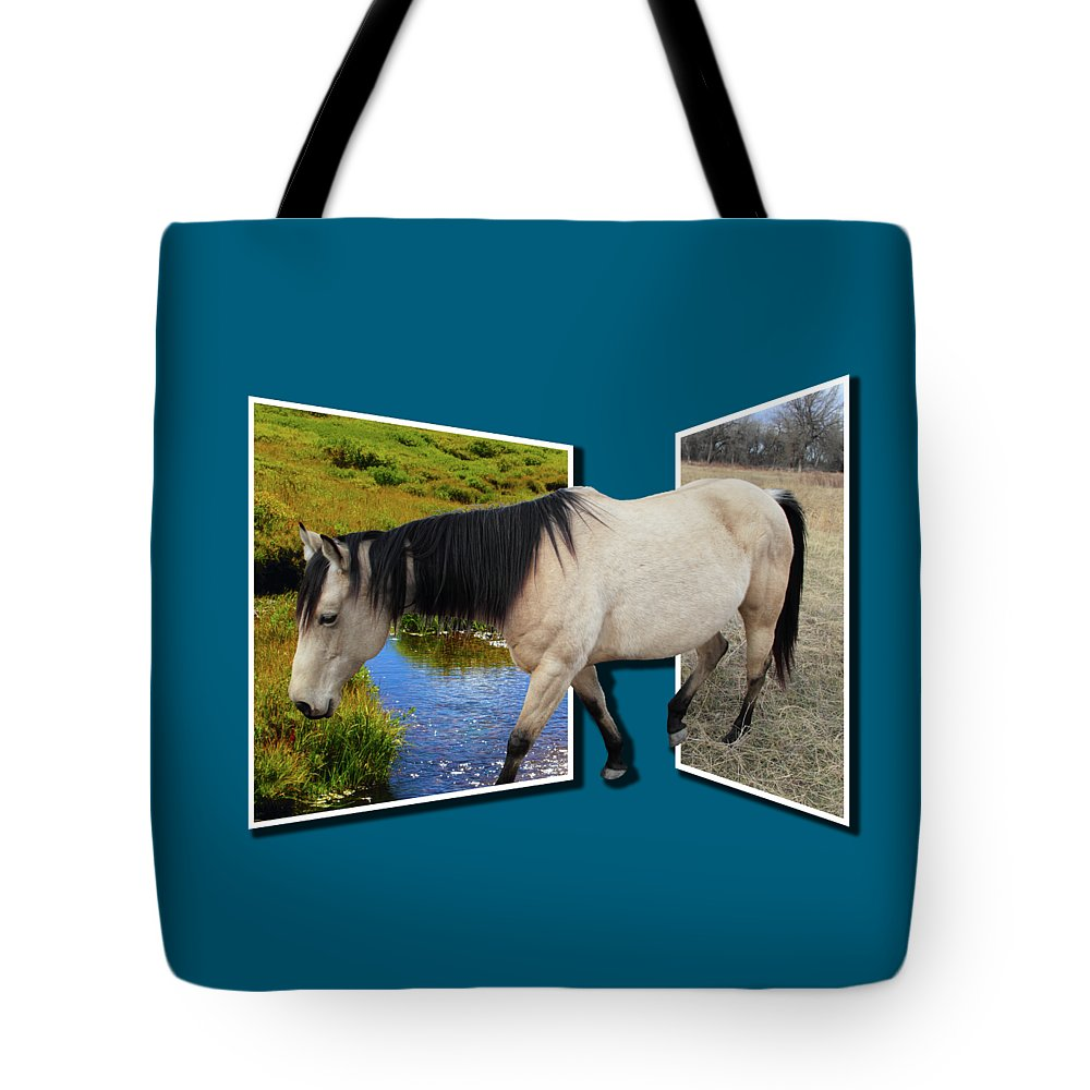Horse Tote Bag featuring the photograph The Grass Is Always Greener On The Other Side by Shane Bechler