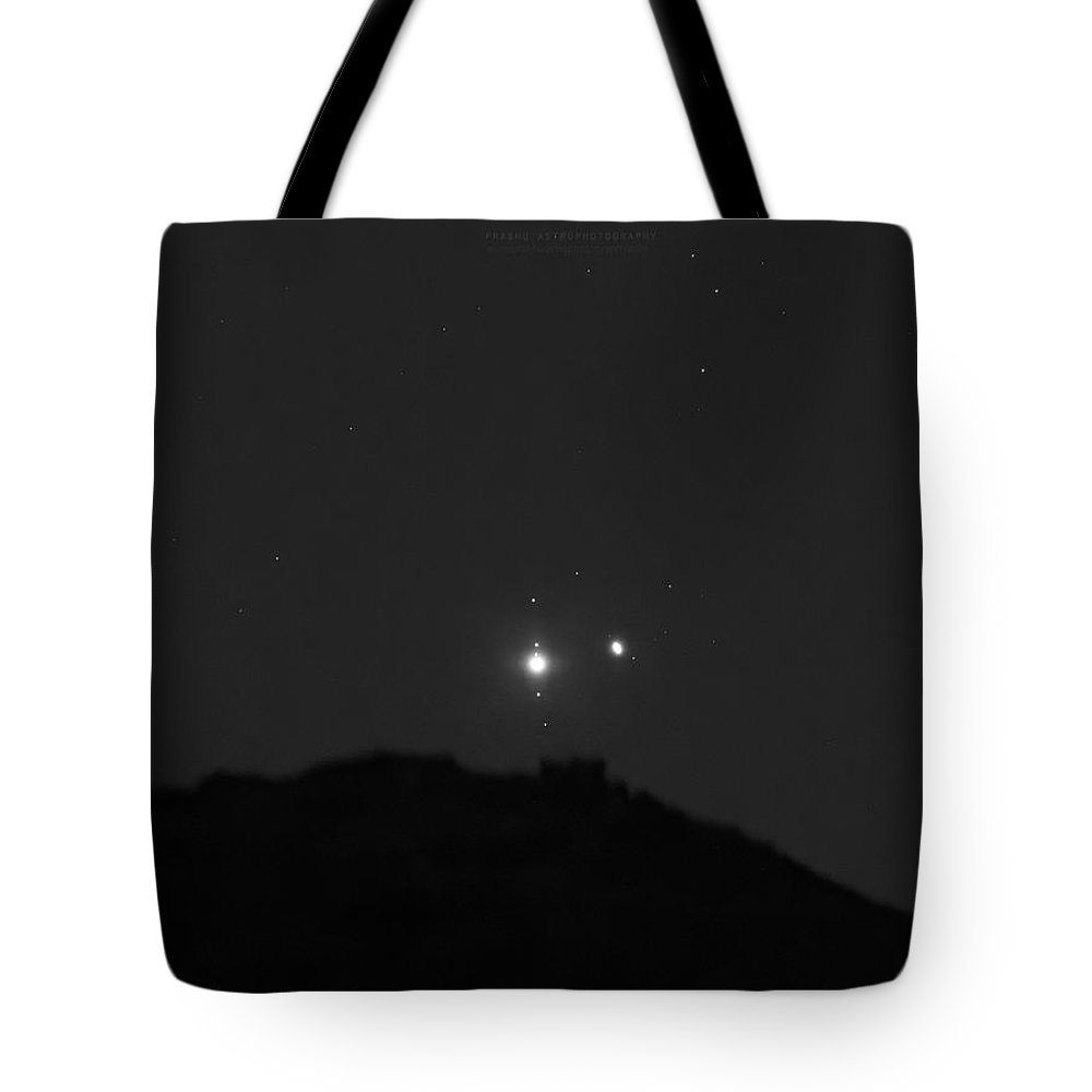 Tote Bag featuring the photograph The Last sight of the Conjunction by Prabhu Astrophotography