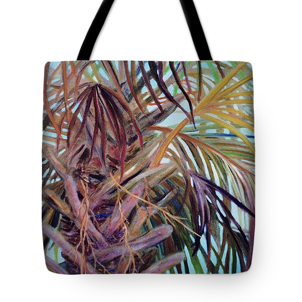 Palm Tree Tote Bag featuring the painting The Palm by Ben Kiger