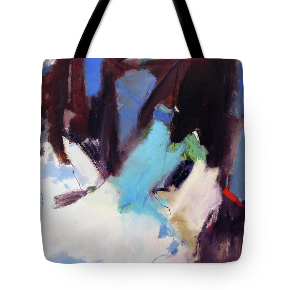 The Pier Tote Bag featuring the painting The Pier by Chris Gholson