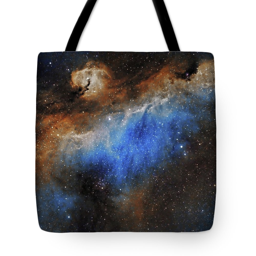 Astronomy Tote Bag featuring the photograph The Seagull Nebula by Prabhu Astrophotography