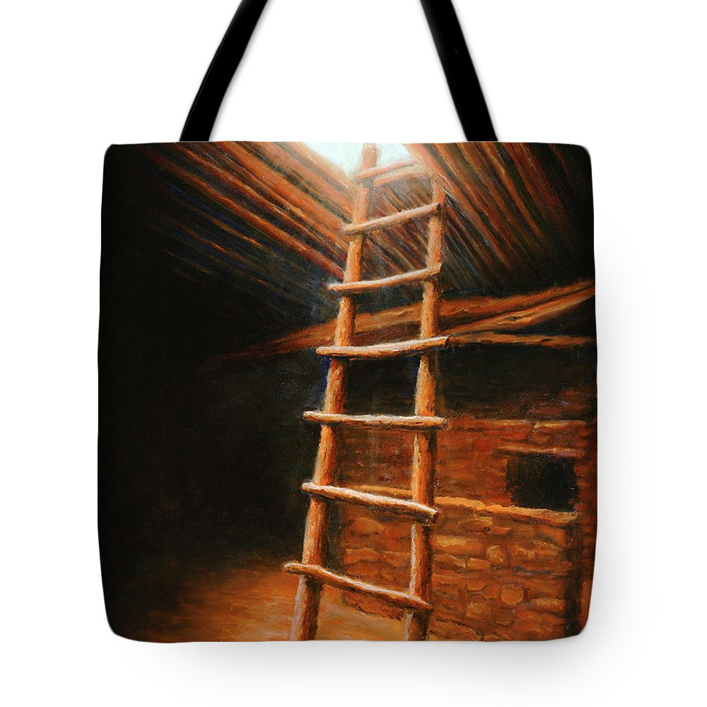 Kiva Tote Bag featuring the painting The Second World by Jerry McElroy