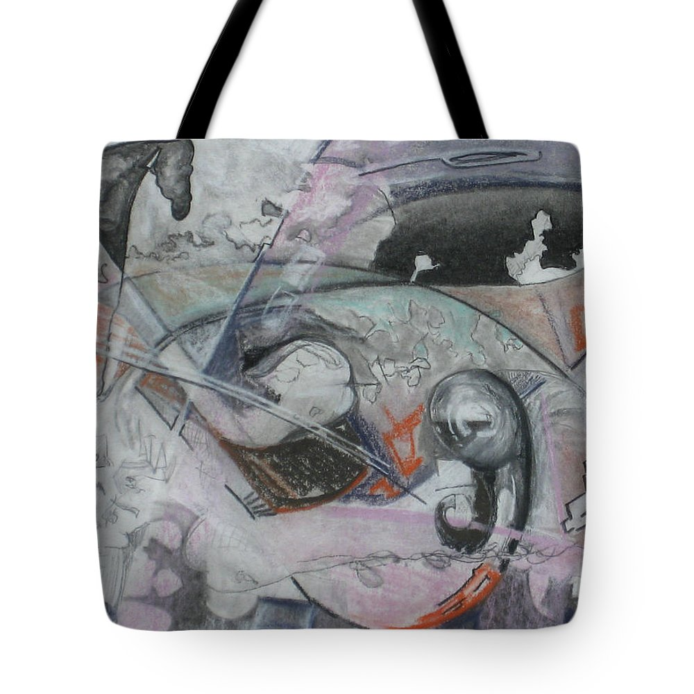Tote Bag featuring the painting The Shining Wall - pencil 13x11 by Doug Jerving