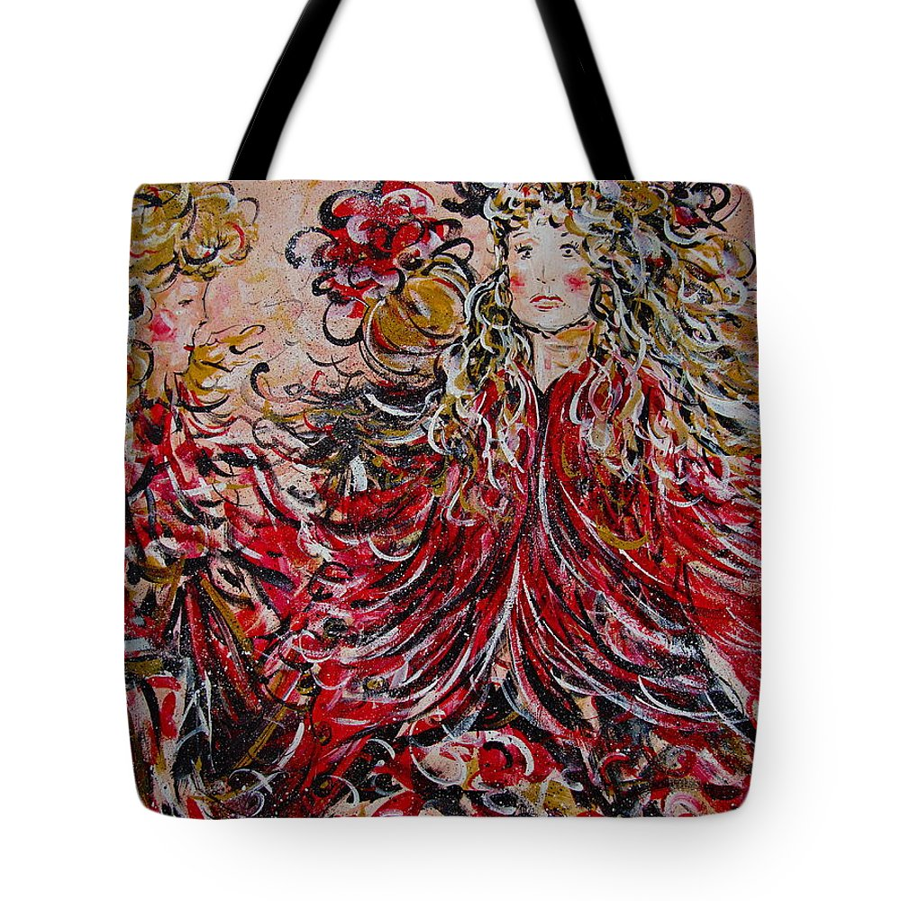Dancers Tote Bag featuring the painting The Spring Festival. by Natalie Holland