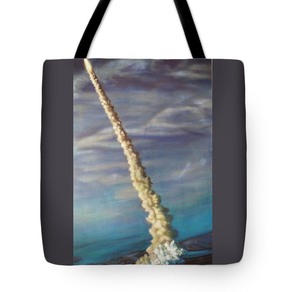Oil Painting On Canvas Tote Bag featuring the painting Throttle Up by Sean Connolly