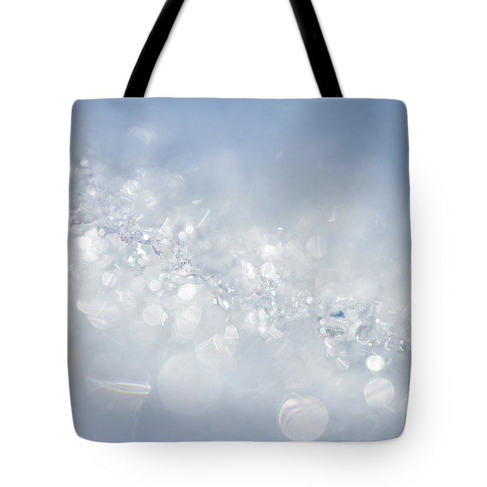 Blue Tote Bag featuring the photograph Tiffany Time by Marilyn Cornwell