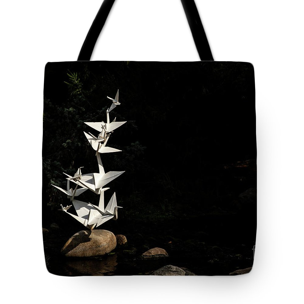 Botanic Gardens Tote Bag featuring the photograph To Sun and Moon by Marilyn Cornwell