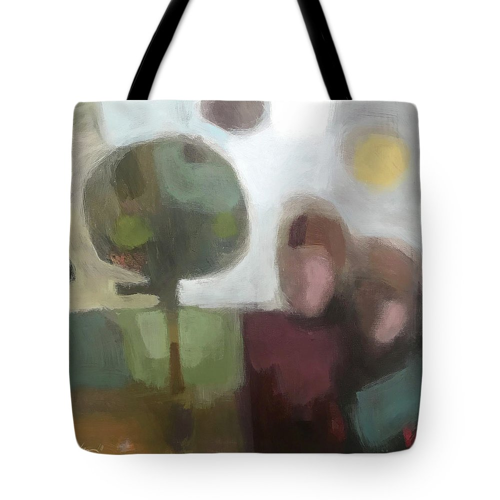 Landscape Tote Bag featuring the painting Together by Farhan Abouassali