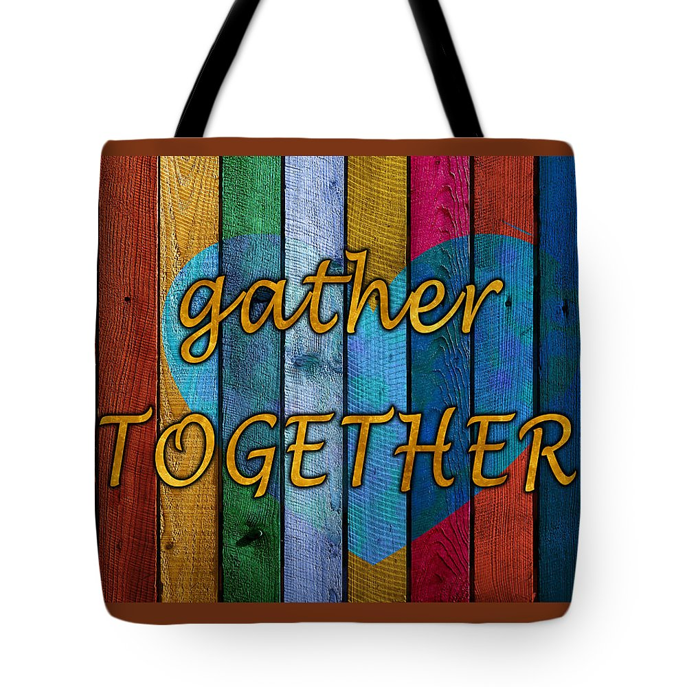 Gather Tote Bag featuring the digital art Together by Junction 116