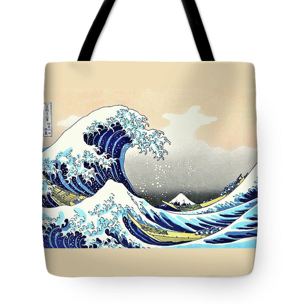 Katsushika Tote Bags
