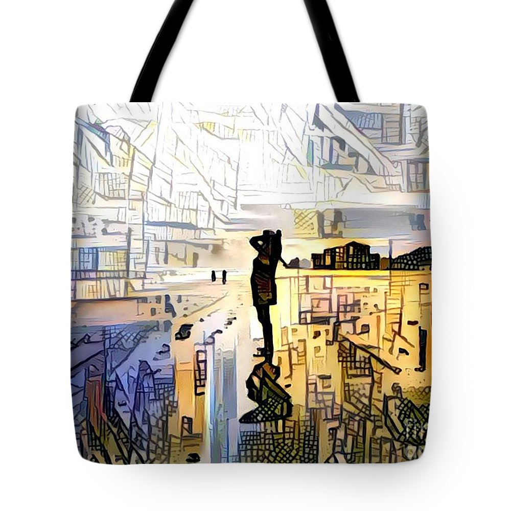 Abstract Tote Bag featuring the photograph Transitioning by Eddy Mann