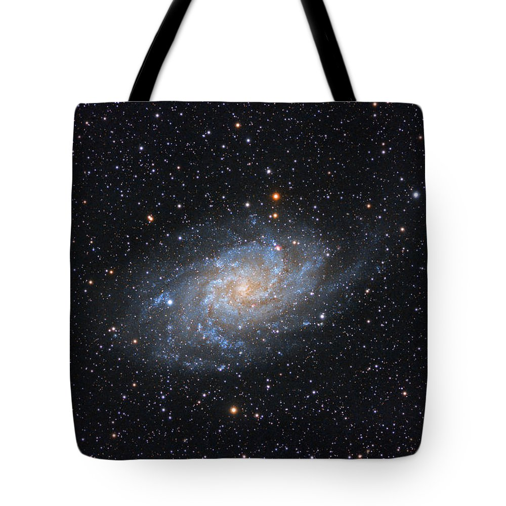 Galaxy Tote Bag featuring the photograph Triangulum Galaxy by Prabhu Astrophotography