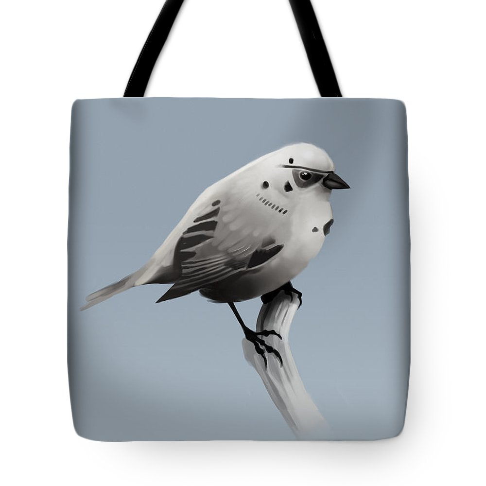 Birds Tote Bag featuring the digital art Trooper Bird Flipped by Michael Myers