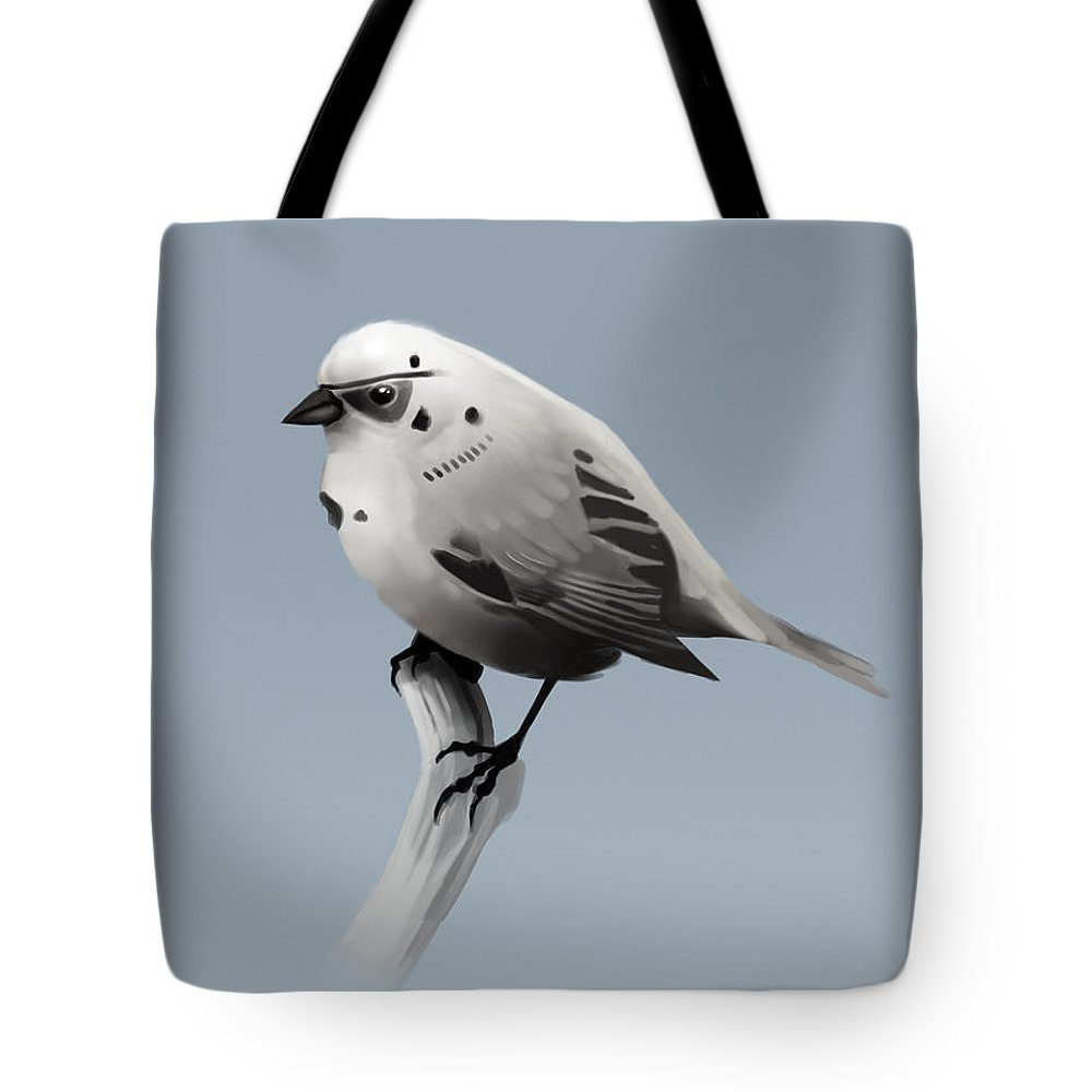 Birds Tote Bag featuring the digital art Trooper Bird by Michael Myers