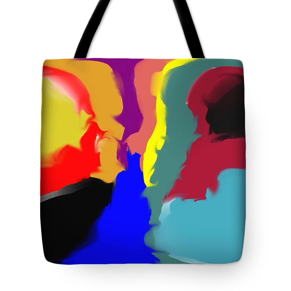 Abstract Tote Bag featuring the digital art Two Peas in a Pod by Pharris Art
