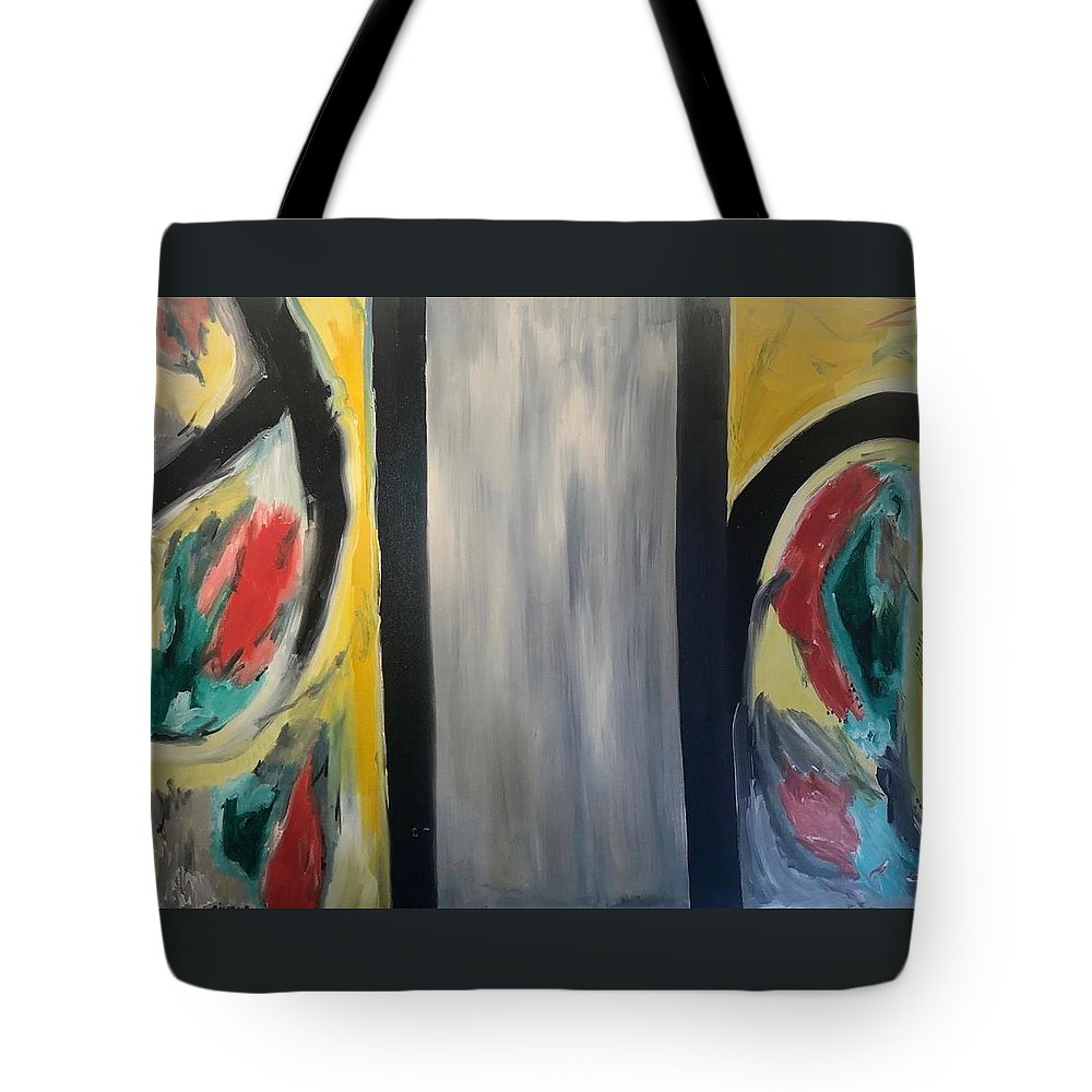 Abstract Tote Bag featuring the mixed media Two worlds by Biagio Civale