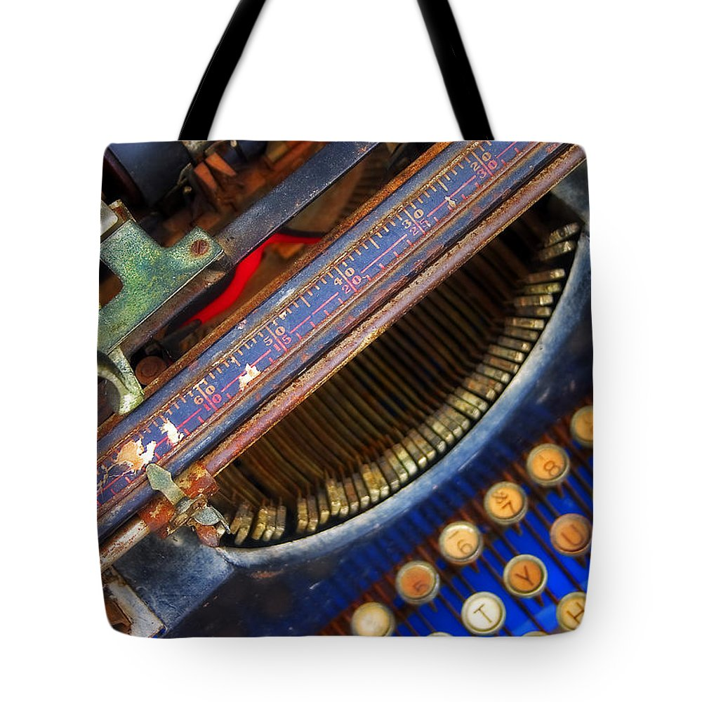 Typewriter Tote Bag featuring the photograph Typewriter by Skip Hunt