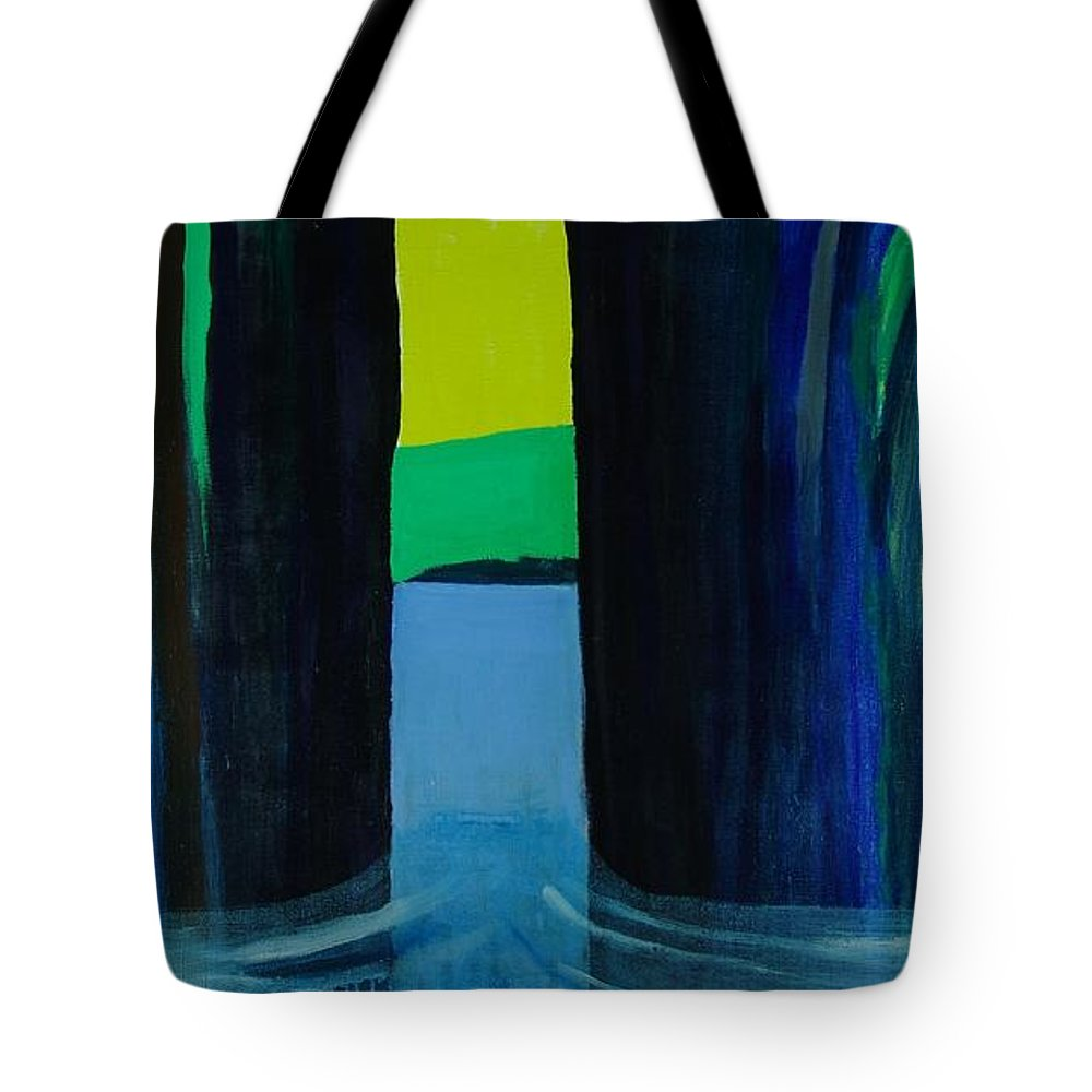 Seascape From A Fjord In The West Coast Of Norway Tote Bag featuring the mixed media Undertow by Jarle Rosseland