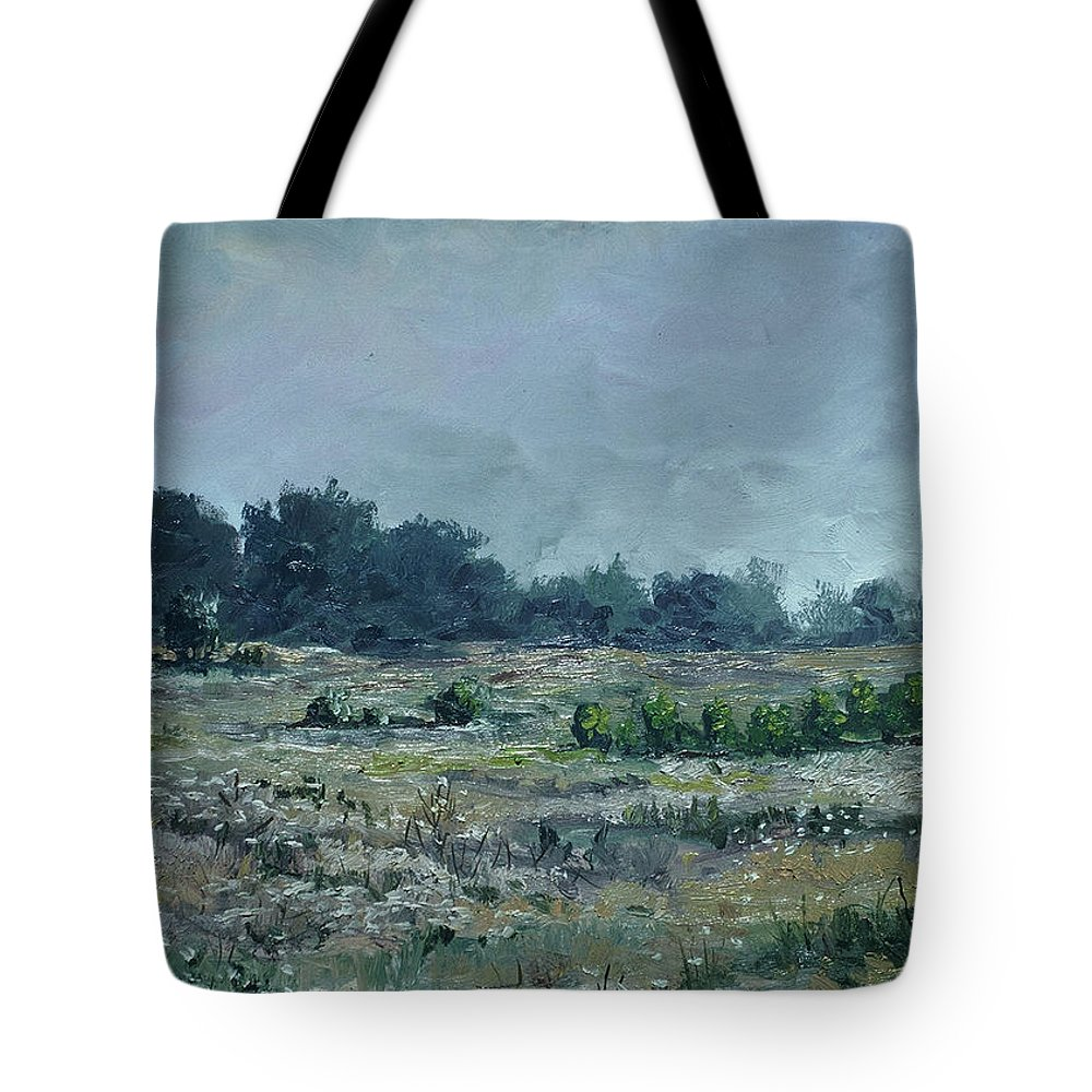 Tote Bag featuring the painting Havenwoods Marshes Original Oil 24x18 by Doug Jerving