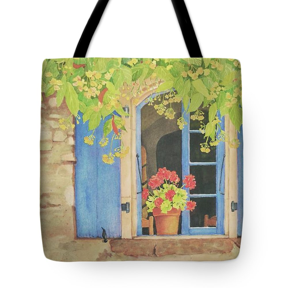 France Tote Bag featuring the painting Vacation Memory by Mary Ellen Mueller Legault