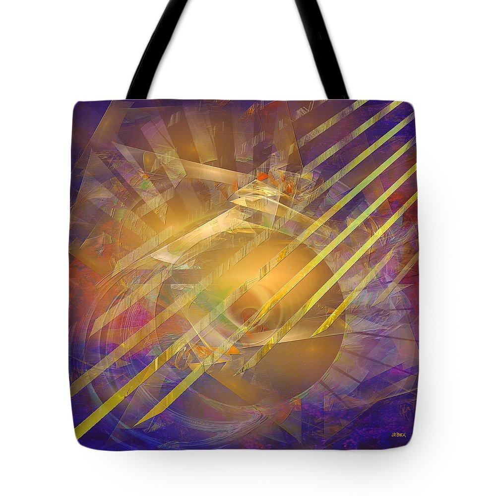 Venetian Gold Tote Bag featuring the digital art Venetian Gold - Square Version by John Robert Beck