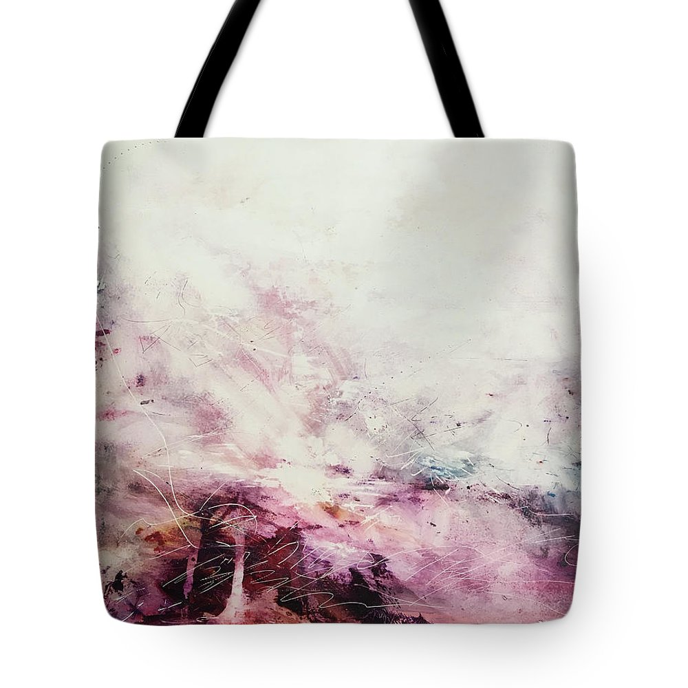 Abstract Art Tote Bag featuring the painting Vestige Of A Glorious Crown by Rodney Frederickson