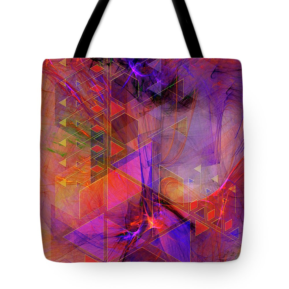 Vibrant Echoes Tote Bag featuring the digital art Vibrant Echoes by John Robert Beck