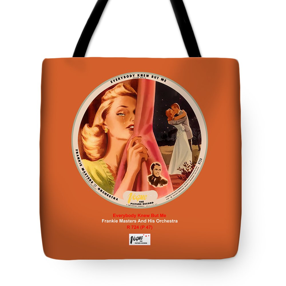 Vogue Picture Record Tote Bag featuring the digital art Vogue Record Art - R 724 - P 47 by John Robert Beck