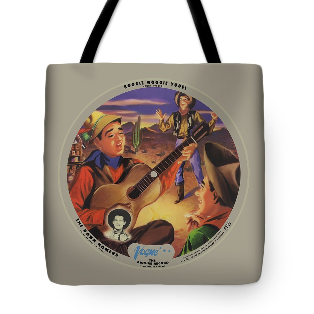 Vogue Picture Record Tote Bag featuring the digital art Vogue Record Art - R 786 - P 52 - Square Version by John Robert Beck