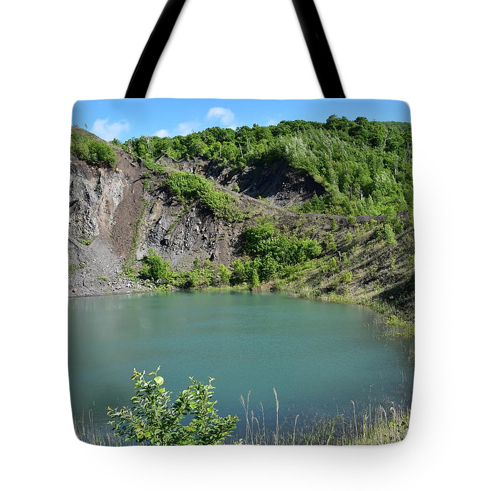 Sunny Tote Bag featuring the photograph Volcano crater by Yujun